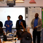 DSFs engaging students L to R: Diamond, Tyler, Tyree, Abdur, Keven