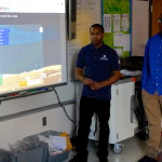 Shevar(left) and Ahmeer (right) talk about the Lost in Space game