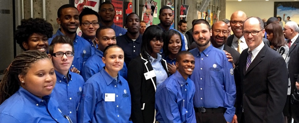 U.S. Secretary of Labor, Thomas Perez, announced a $100 million apprenticeship grant at the Urban Technology Project