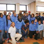 CEO Kelvin Jeremih with the entire DSF group at the Blumberg Apartments