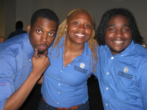 Jarrell, Natasha and Tyree having a good time!