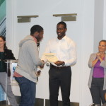 Students receiving certificates of completion